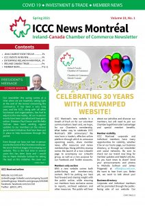 ICCC Montreal Spring 2021 Newsletter front page