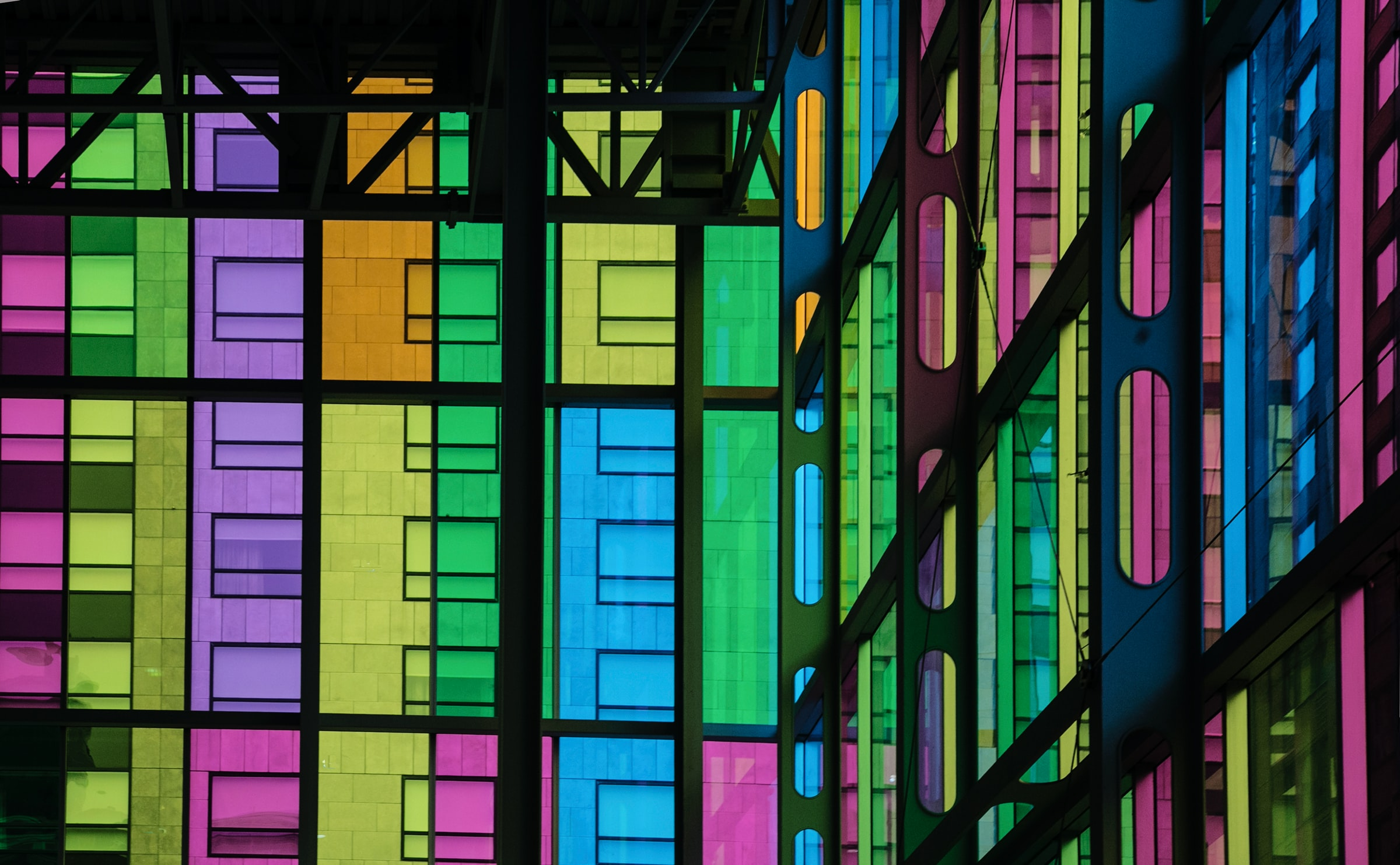 Montreal Palais des Congrès stained glass Photo credit Elvira Butler